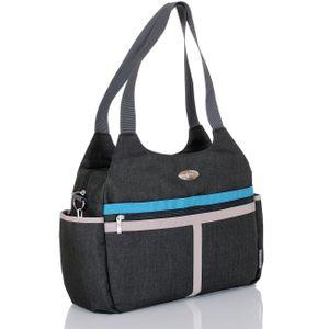 LCP Kids Wickeltasche Baby Kinderwagentasche Windeltasche mit Wickelunterlage schwarz