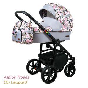 PolBaby Kombikinderwagen 3in1 Colorlux Raf-Pol , Autositz-Albion Roses