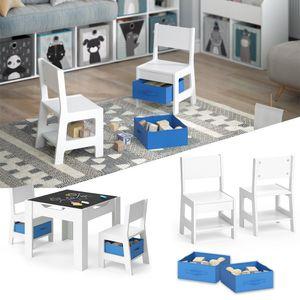 VICCO Kinderstuhl 2er Set STELLA mit Aufbewahrungsboxen blau Kindermöbel Stuhl