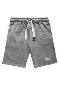 Herren Basic Trainings Sweat Shorts Gummibund Kurze Baggy Jogginghose Tiefe Taschen 3D Print French-Terry, Farben:Hellgrau, Größe Hosen:M