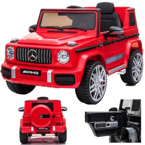 Mercedes-Benz G 63 G63 AMG V8 Biturbo Kinderauto Kinderfahrzeug Kinder Elektroauto 12V / 2x Motoren (Rot)
