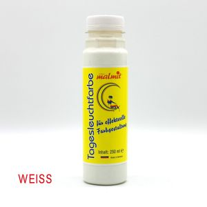 Weiss Tagesleuchtfarbe 250ml Neon Schwarzlichtfarbe UV Farbe Neonfarbe Leuchtfarbe