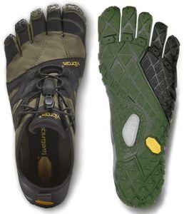 Vibram FiveFingers V-Trail 2.0 Men + Zehensocke, Size:44, Color:Ivy/Black