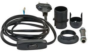 VBS Lampenanschlusskabel-Set E14, schwarz