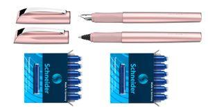 Schneider Tintenroller Füller Patronen Ceod Shiny Powder Pink Komplettset