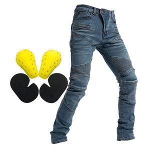 Motorrad Fahren Herren Jeans Fly Racing Resistance Pants Blau M Größe M