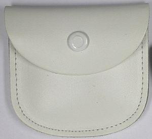 Rosenkranzetui - Leder, 7,5 x 6,5 cm, weiß