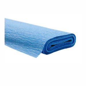 Creleo - Krepppapier hellblau 50x250 cm Rolle färbt nicht ab bei kontakt mit Wasser