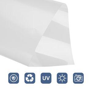 EINFEBEN Fensterfolien Blickdicht Blau Fensterfolie Sichtschutzfolie Haftung 45*200CM
