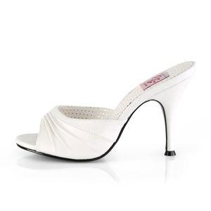 Pin Up Couture MONROE-01 Sandaletten weiss, Größe:EU-38 / US-8 / UK-5
