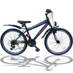 24 Zoll Fahrrad MTB mit Beleuchtung und SHIMANO 21-Gang Faster SBO