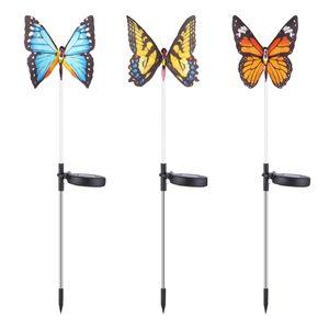 3x Tanzender Solar Schmetterling Gartendstecker der Schöne Hingucker im Garten