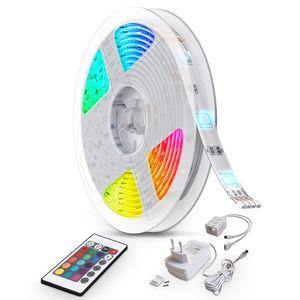 10M LED Lichtstreifen Band Farbwechsel dimmbar selbstklebend Lichtleiste 0,12 Watt 230 Volt B.K.Licht