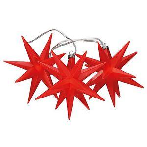 Kunststoff-Weihnachtssterne rot Saico CW62-1002
