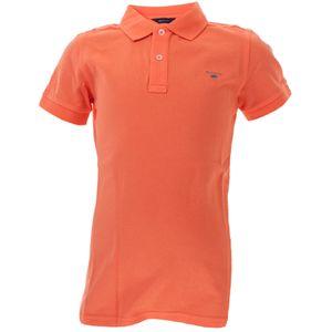 Gant Kinder Unisex Poloshirt Original Pique aus Baumwolle, Größe:134/140, Farbe:Orange(859)