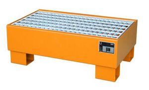 Bauer GmbH Auffangwanne lackiert mit Gitterrost AW 60-1/M, lackiert orange RAL 2000