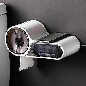 Toilettenpapierhalter Box ohne Bohren wasserdichte Wandbehang WC Klopapierhalter