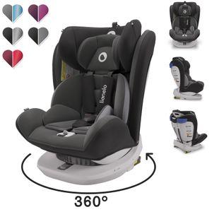 Lionelo Bastiaan kindersitz 0-36 kg ISOFIX 360° Autokindersitze Kinderautositze Grau