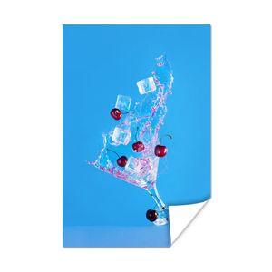 Poster - Bewegliches Martini-Glas - 120x180 cm