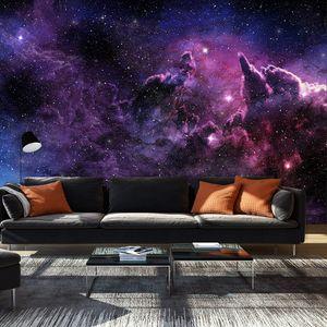 Fototapete selbstklebend Galaxy 392x280 cm Tapete Wandtapete Wandbilder Klebefolie Dekofolie Tapetenfolie Wand Dekoration Wohnzimmer - Galaxie Himmel Kosmos a-C-0022-a-a