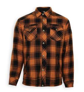 Bores Lumberjack Shirt Farbe: Orange/Schwarz, Grösse: 7XL