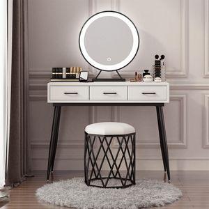 WYCTIN Kosmetikspiegel Schminkspiegel Mit LED Beleuchtung Make Up 50*50cm