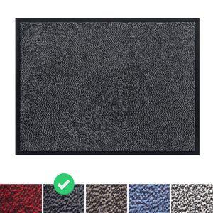 Fußmatte Schmutzfangmatte 90x150 cm, Farbe: Grau, Türmatte Fußabtreter Türvorleger