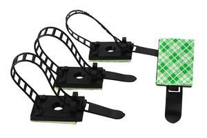 50 Stück Auto Kabelhalter Selbstklebend Kabelklemme Kabelbefestigung Kabelclip Kabel Kabelschellen Kabelführung (17,5x24,5mm)