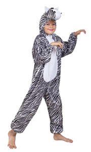 B88052-116 Kinder Mädchen Junge Zebra Overall-Kostüm bis max.116 cm Körpergröße