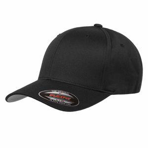 Flexfit® Baseball-Cap Gr. S / M Schwarz Wooly Combed Basecap Baseball Cap Mütze Kappe