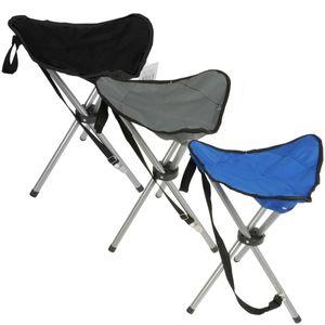 Klapphocker Dreibein Angelstuhl blau, grau oder schwarz Falthocker Campinghocker, Farbe:blau