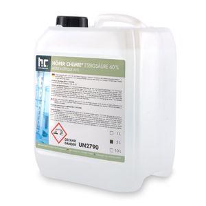 4 x 5 Liter Essigsäure 60% in Kanistern