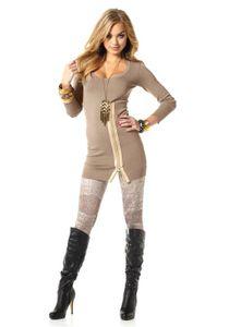 Melrose Strickkleid m. Reißverschluß, beige Kleider Größe: 36