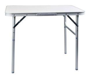 Klapptisch aus Aluminium  als Campingtisch oder Gartentisch Beistelltisch faltbar 75 cm x 55 cm x 60cm