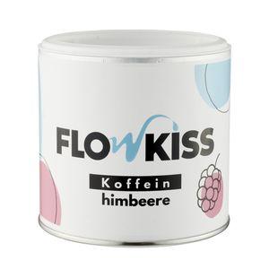 FLOWKISS Energy Powder Himbeere Geschmack (20mg Koffein je 100ml) ohne Farbstoffe - nur 3 Zutaten – Inulin Koffein Himbeeraroma – bekannt aus Höhle der Löwen