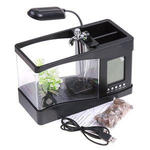 Schwarzes Mini-Aquarium mit USB-Creative-Aquarium