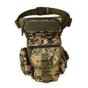 Beintasche, Sport Militärische Hüfttasche Bein Schenkel Beutel praktische Herren Damen Gürteltasche mit Multi Farbe Dschungel Digital
