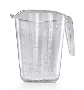Messbecher 1l Kunststoff Transparent Messkanne Füllvolumen 1 Liter Literbecher