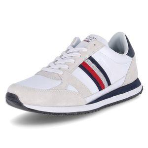 Tommy Hilfiger Sneaker Low RUNNER LO LEATHER STRIP Weiß Herren
