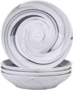 vancasso Suppenteller Porzellan, Clay 4-teilig Tiefteller, Ø 21,5 cm, Suppenschale 700ml Salat-Teller Set