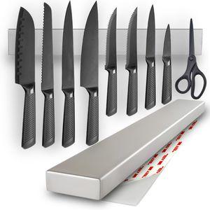 AWEMOZ® Messerhalter aus Edelstahl – Magnetleiste Messer - Messerblock magnetisch – Messer Organizer für die Küche – Messerleiste Küchenmesser – 50 cm - Muttertag Geschenke