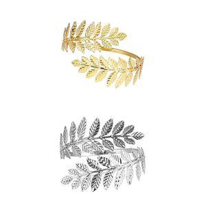 Wirbelblattform Oberarm Manschette Armreif Armband Armreif Armband Golden & Silber