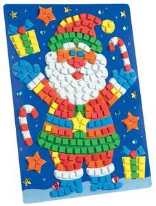 """folia Moosgummi-Mosaik """"Weihnachtsmann"""" 402 Teile"""