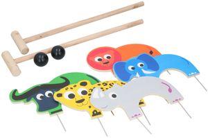 Marionette Wooden Toys Krocket - Outdoor Spielzeug - Wildtiere - 9-Teilig - Holz