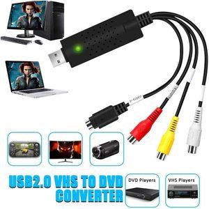 USB 2.0 Audio Video Konverter, Video Grabber Neue Software Mac Windows 10 fähig VHS VCR DVD Videoadapter, VHS Digitalisieren und Video Bearbeiten