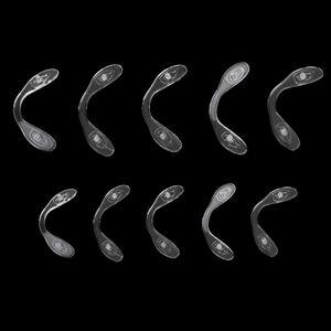 10 Stück Silikon Nasenpads selbstklebend Brillenpads zum Aufkleben