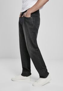 Urban Classics Hose Loose Fit Jeans Real Black Washed-31/32