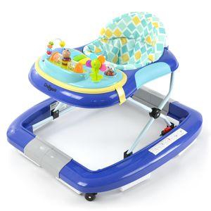 Daliya® BEBISTEP 4in1 Spiel- und Lauflernwagen - Gehfrei mit Schaukelfunktion Babywalker Lauflernwagen Laufhilfe Babywippe mit Musik- & Spielecenter & Esstisch Blau
