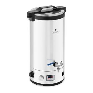 Royal Catering Maischekessel - 30 L - 700/1.800/2.500 W - 30 - 110 °C - Edelstahl - LED-Anzeige - Timer - Royal Catering