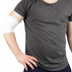 Ellenbogenbandagen in weiß, Gelenkschoner Schutz Schoner für Ellenbogengelenk Unisex
